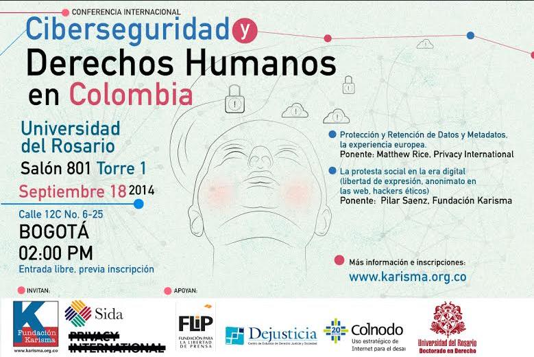 Conferencia Ciberseguridad y DDHH en Colombia