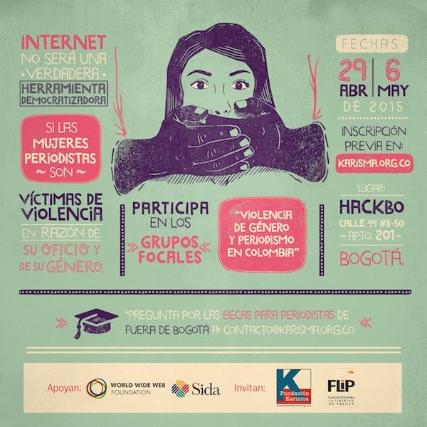 """Participa de los grupos focales """"Violencia de género y periodismo en Colombia"""""""