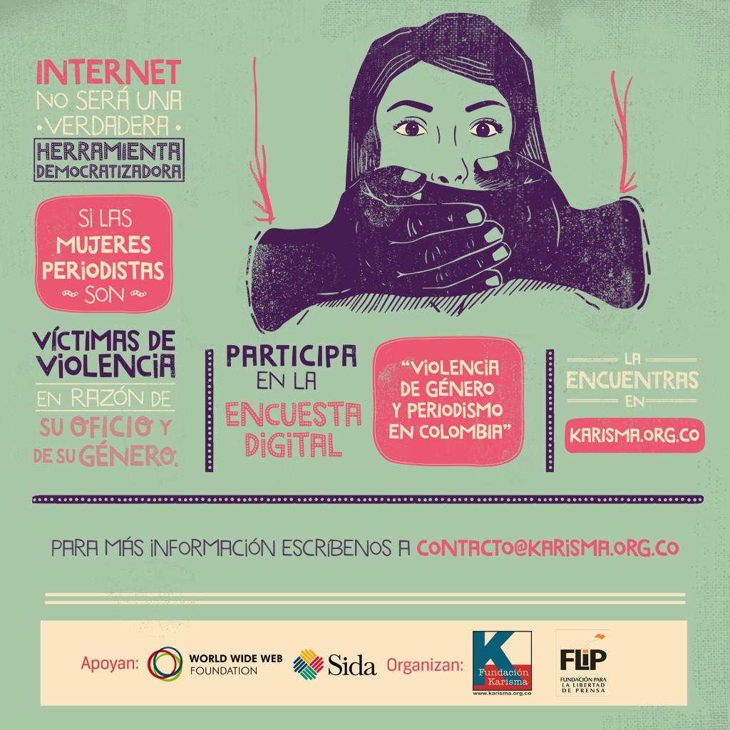 """Participa en la encuesta """"Violencia de género en línea y periodismo en Colombia"""""""